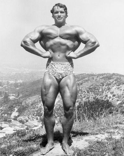 <strong>Arnold Schwarzenegger then...</strong>