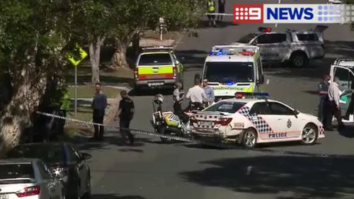 A man with a metal pole was shot dead by police in Tewantin. (9NEWS)