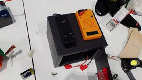 The device the man produced and claimed was a bomb.