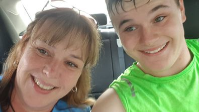Sharan Prince with her son Lee, 17 who has autism and ADHD.