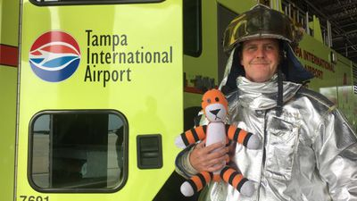 Airport staff take toddler's stuffed toy tiger on adventure to find him