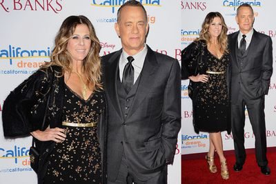<i>Saving Mr Banks</i> star Tom Hanks and actress Rita Wilson.