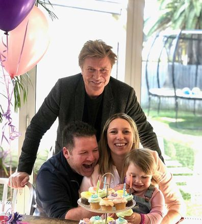 Richard Wilkins with daughter Rebecca and her family.