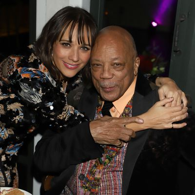 Rashida Jones and Quincy Jones