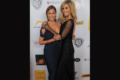 The Aussie songstress attended the awards in support of her roomie and AIF presenter Renee Bargh.