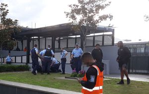 Schoolboy brawl at Bankstown bus interchange
