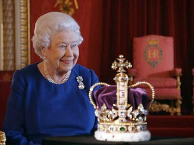 Queen Elizabeth in crown jewels documentary