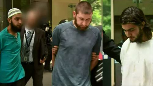 Three men have been charged with allegedly planning a terror attack.
