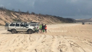 A young boy has been bitten by a dingo on Queensland's Fraser Island for the second time in weeks.
