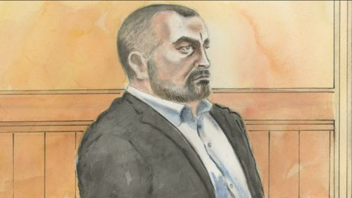 Mr Ristevski will face the Supreme court on Monday. He stared straight ahead in court today. Picture: 9NEWS