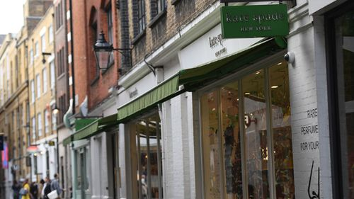 Kate Spade had stores and outlets all over the world including this one in London's Covent Garden. Picture: Victoria Jones/AP
