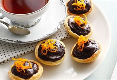 Choc-orange tartlets