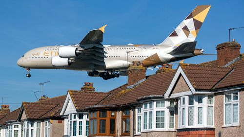 An Etihad Airways Airbus A380