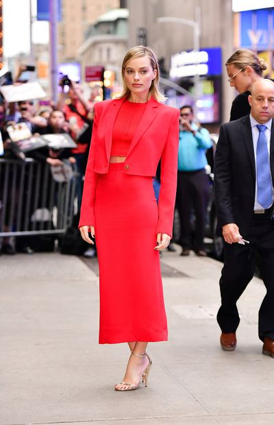 Margot Robbie outside ABC's 'Good Morning America' in Times Square, New York on October 11, 2017
