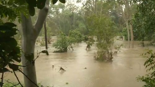 Heavy rain has caused flash flooding in parts of north-west Queensland. (9NEWS)