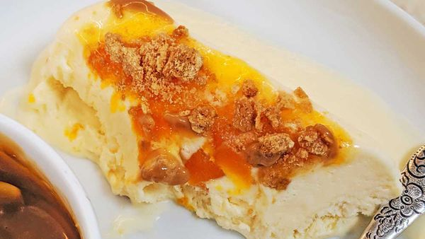 Candied pumpkin semifreddo recipe