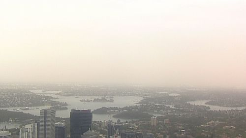 The dust settles across Sydney this morning.