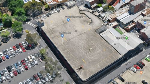 The car park would provide a great view of Melbourne's CBD. Picture: Google Maps