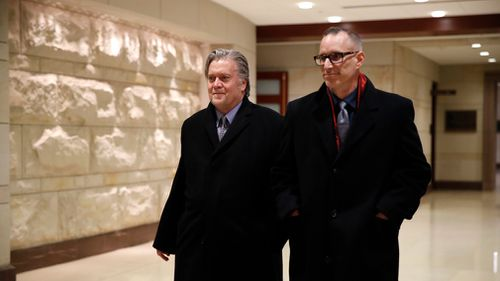 Bannon would be the highest-ranking person who served in the Trump White House to be called before the grand jury. (AAP)