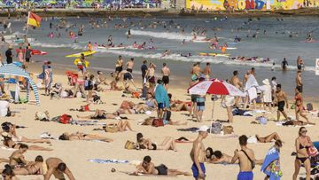 A general view of Bondi Beach on January 18, 2021 in Sydney, Australia.