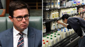 David Littleproud Woolworths Coles Aldi milk controversy