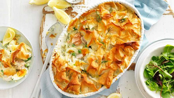 Salmon and white fish pie