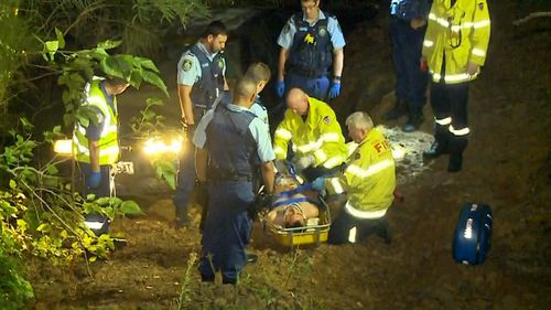 The driver was taken to hospital and released this morning. (9NEWS)