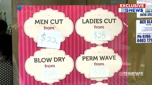 The difference in pricing ranges across clothing, beauty products and services such as hair cuts. Picture: 9NEWS.