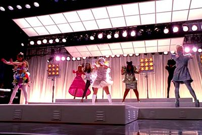 <B>From the episode...</B> 'Theatricality'<br/><br/><B>Why it sucks:</B> There's over-the-top, and there's <i>too </i>over-the-top — and unfortunately, <i>Glee</i>'s 'Bad Romance' crash-landed in the latter category. The song appeared months after everyone was sick of it, and <I>as if</I> high-schoolers could copy Lady Gaga's costumes so perfectly.