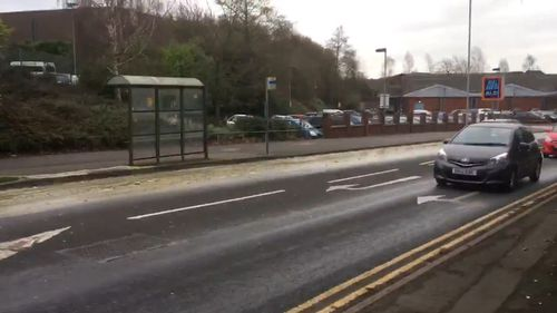 The 91-metre-long stream of excrement flowed down Walsall Road, in Staffordshire.