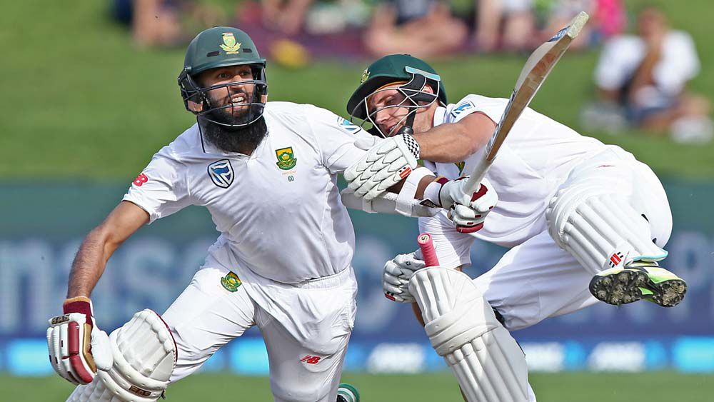 Theunis Du Bruyn comically run out against New Zealand