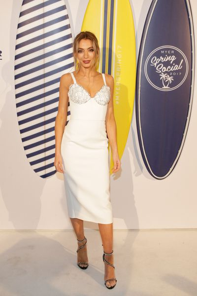 <p>Lose</p> <p>Nadia Bartel in Yeojin Bae, Myer Spring Social 2017.</p> <p>The nighttime inspiration is lost in the stiff structure.</p>