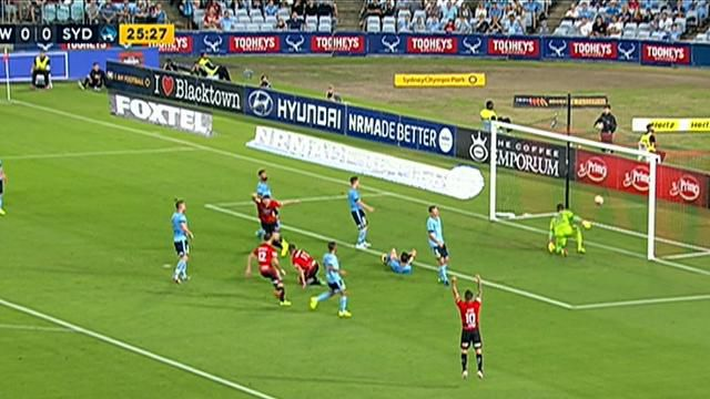 Wanderers hand Sydney FC their first loss