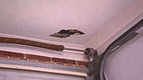 Keith said rats had gnawed a hole in the ceiling.