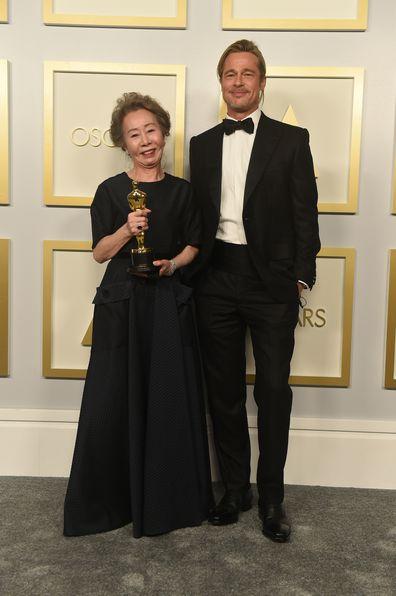 Youn Yuh-jung, Brad Pitt, Oscars 2021