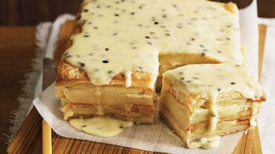<strong>Passionfruit vanilla slice</strong>