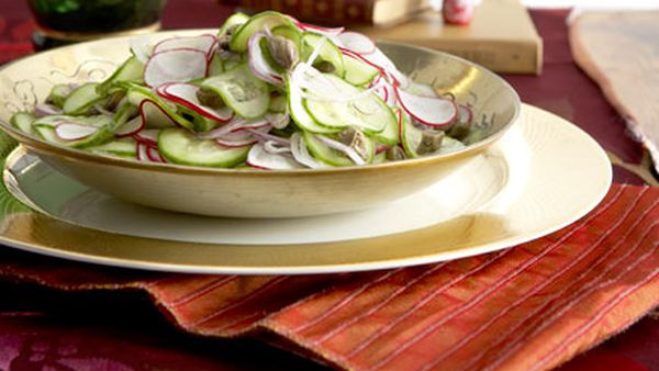 Cucumber and caper salad