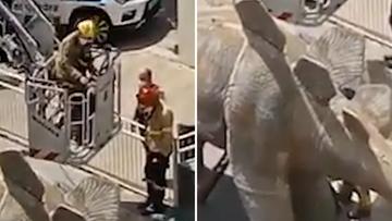 Spain man's body found in papier mache dinosaur leg