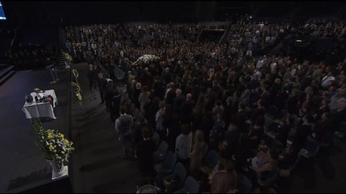 A huge crowd has gathered inside the church. (Supplied)