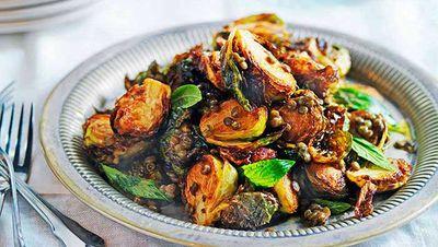 "Recipe: <a href=""http://kitchen.nine.com.au/2016/05/16/13/23/crisp-brussels-sprouts-with-lentils"" target=""_top"">Crisp Brussels sprouts with lentils</a>"