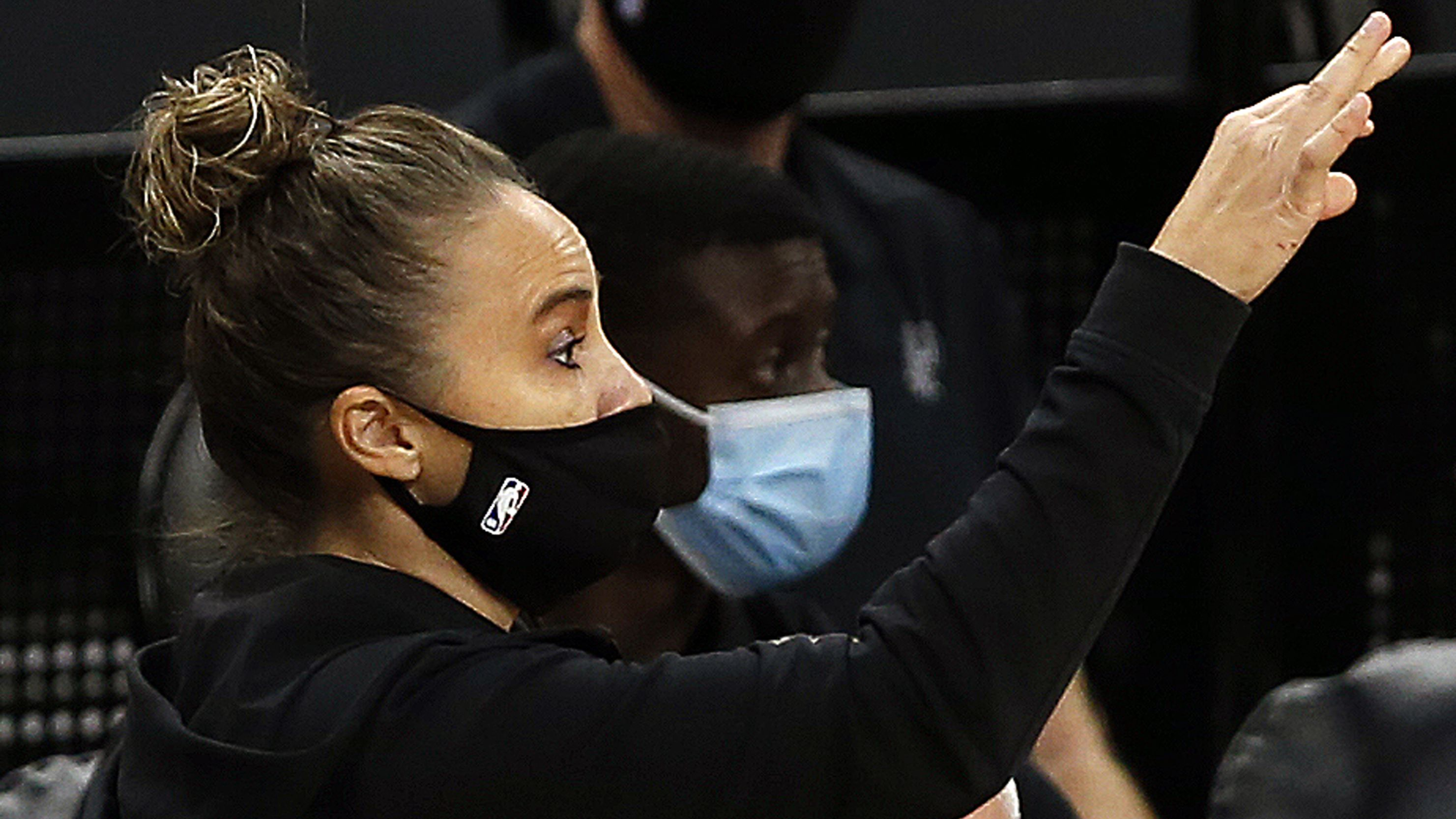 Becky Hammon of the San Antonio Spurs took over head coach duties.