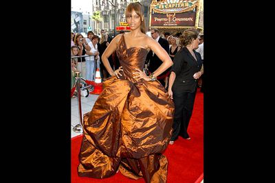 <b>Where she wore it:</b> The 34th Annual Daytime Emmy Awards, 2007.<br/><br/><b>The look:</b> That year, Tyra decided to go to the Emmy Awards dressed as a big piece of chocolate.