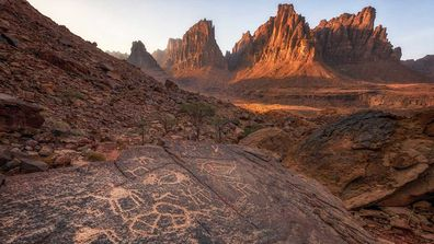 Rock art at Hail, Saudi Arabia