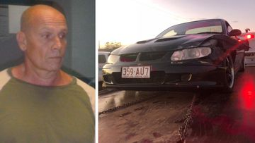 Three people have been arrested following a police pursuit with a car belonging to wanted Queensland man Alan Lace.