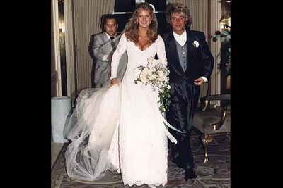 The aging rocker married the supermodel 24 years his junior in 1990 after a whirlwind romance. Five years later they renewed their vows, and then a few years after that they filed for divorce.