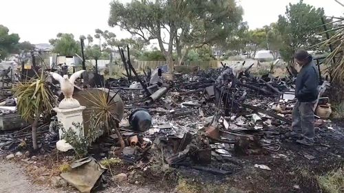 The family lost 25 years' worth of family mementoes in the blaze.
