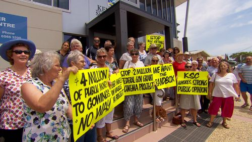 Members of the Kempsey community are protesting a $4m new cinema development.