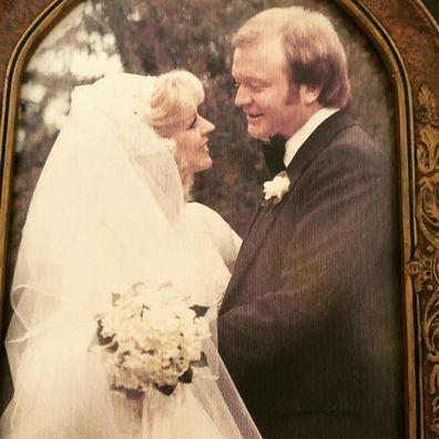 Patti Newton and Bert Newton get married