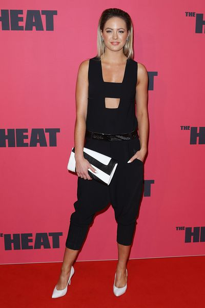 Jesinta Franklin at <em>The Heat</em> premiere in Sydney, July, 2013