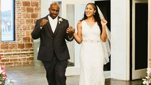 Maya Moore and Jonathan Irons on their wedding day.